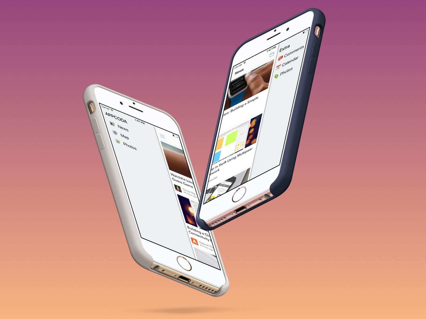 Chapter 22 - Building Slide Out Sidebar Menus · Intermediate iOS 12