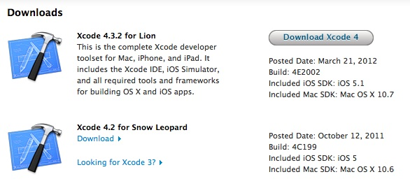 Download Older Version of Xcode