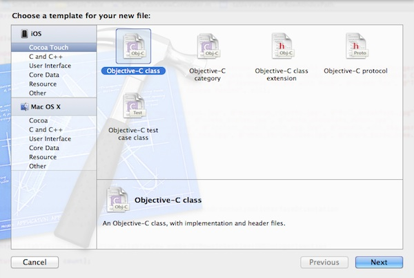 New File Template Dialog