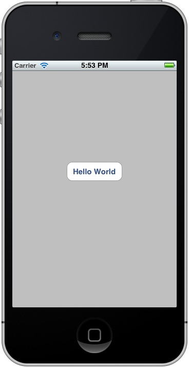 Run Hello World with Button