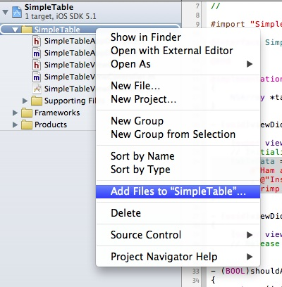 SimpleTable Add File