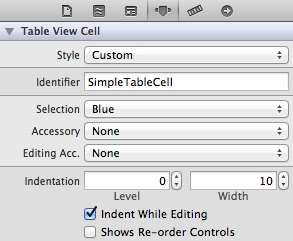 SimpleTable Cell Identifier