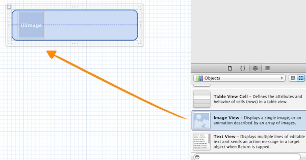 SimpleTableCell Drag ImageView