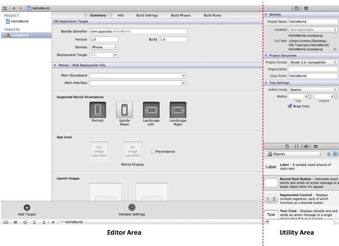 Xcode Editor Utility Area