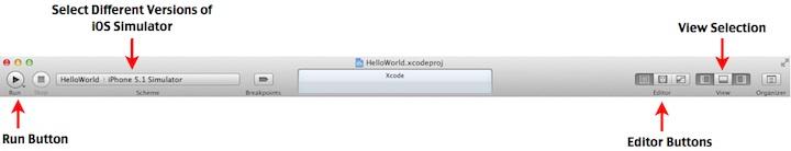 Xcode Toolbar