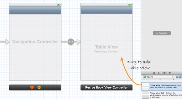 Storyboard Add Table View