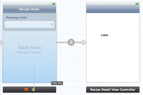 Storyboard Connect TableView
