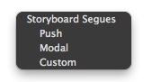 Storyboard Segues