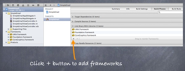 Add Framework in Build Phases