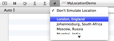 Xcode Simulate Location
