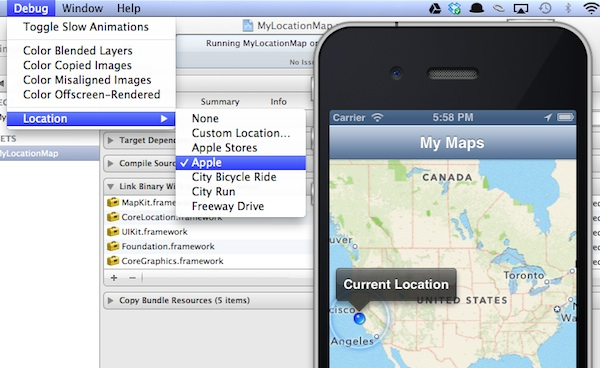 MyLocationMap App Fake Location