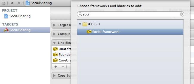SocialSharing Add Social Framework