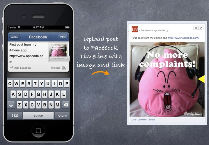 SocialSharing Facebook Post with Image