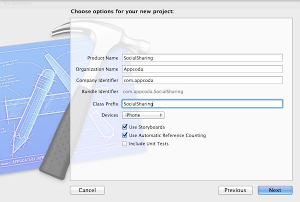 SocialSharing Xcode Project