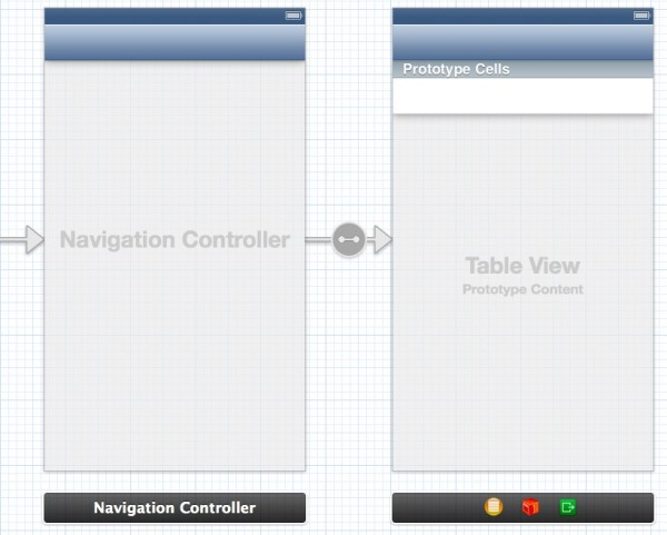 Storyboard Empty TableViewController