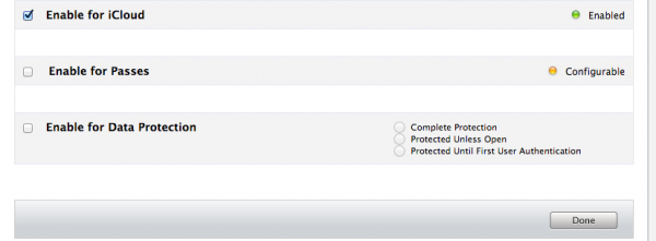 Enabling iCloud Feature