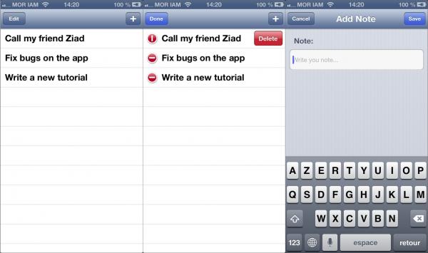TamNote App using iCloud