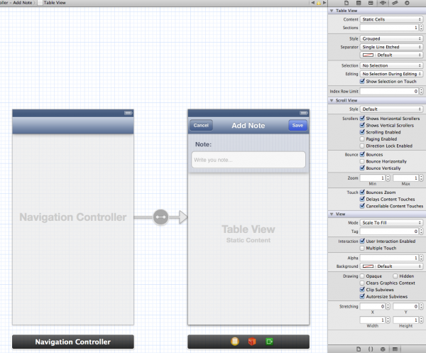 Designing the Add Note View Controller