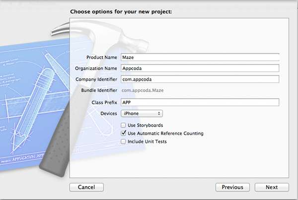 Setting Xcode Project Option