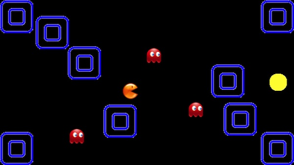 Maze Game Pacman without rotation