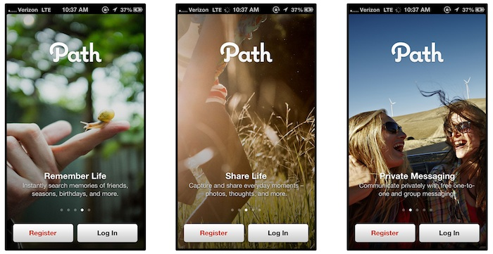 Sample Walkthrough Screens from Path