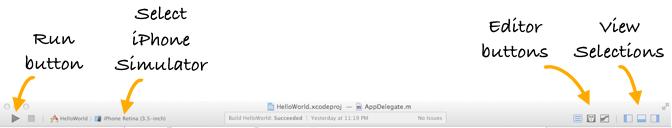 Xcode 5 Toolbar