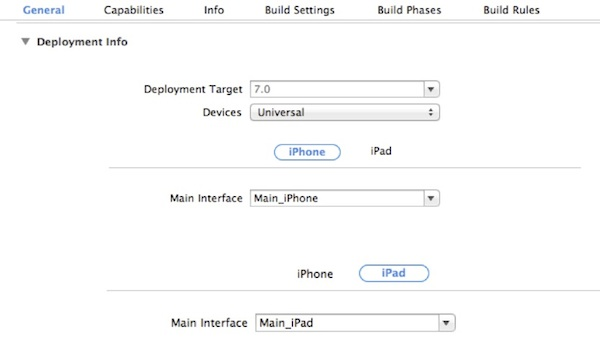 Xcode Project General Setting