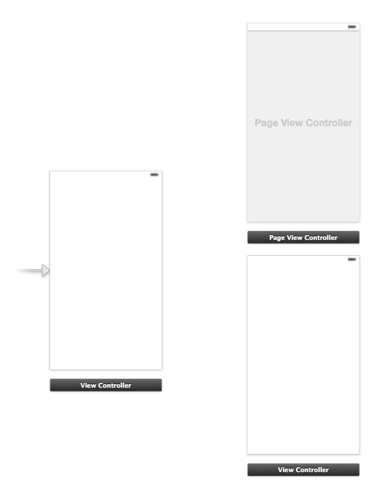 Page View Controller in Storyboard