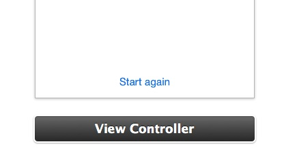 Page View Controller with Start again button