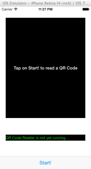 QR Code Demo App for iPhone