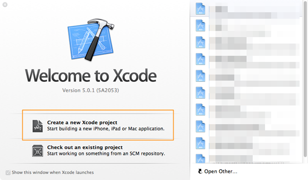 Xcode Welcome