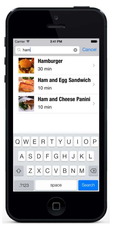 How To Implement Search Bar in iOS 7 Using Storyboard