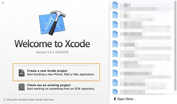 Create a New Xcode Project