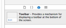 Interface Builder Toolbar
