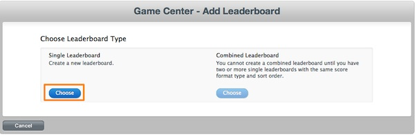 iTunesConnect - Setting Leaderboard Type for GameKit Demo