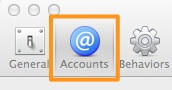 Xcode Account tab
