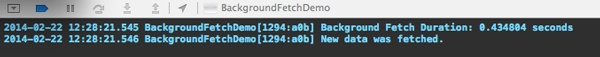 Background Fetch Project Debugger Duration