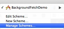 Background Fetch Project Manage Scheme