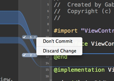 Version Control Xcode - Commit Window