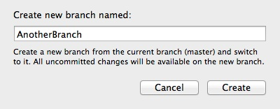 Version Control Xcode - Add Branch