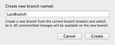 Xcode Version Control - Last Branch