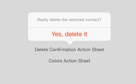 Delete Confirmation on iPad