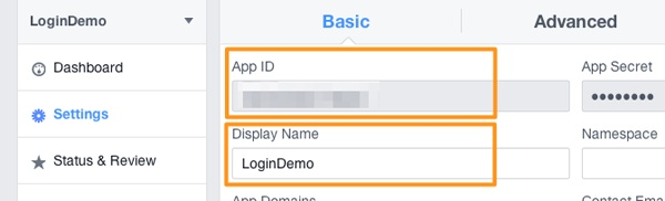Facebook Login - App ID