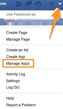 Facebook Login - Manage App Options