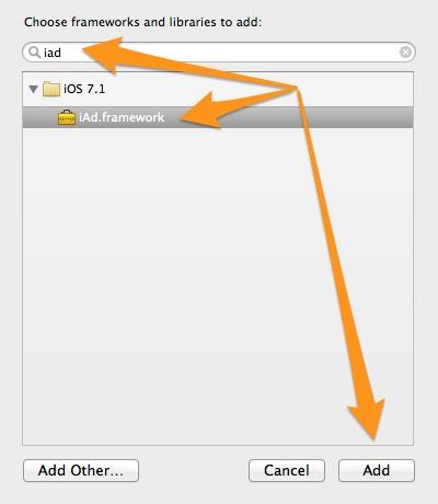 iAd Add Framework
