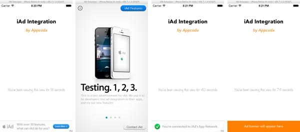 iAd Demo App