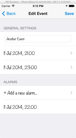 EventKit - Add Alarm