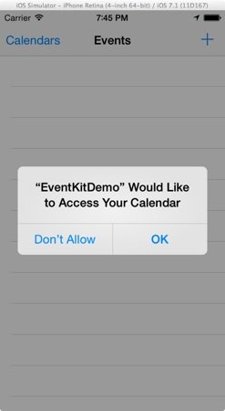 Eventkit Event Permission