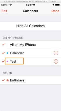 EventKit - Add Calendar