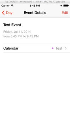 EventKit - Create Calendar Event